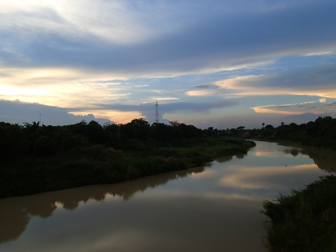 Sunset near the Killing Fields